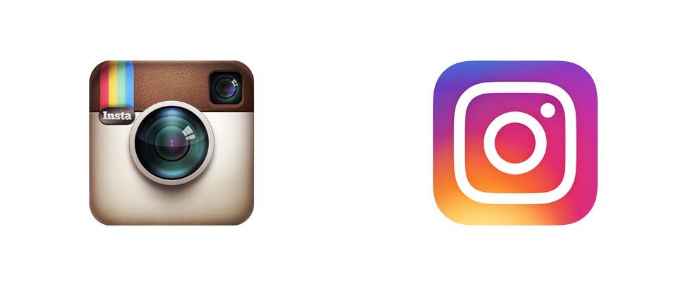 Evolución del diseño del logo de Instagram