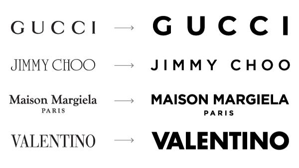 Rediseño de logos de marcas de moda