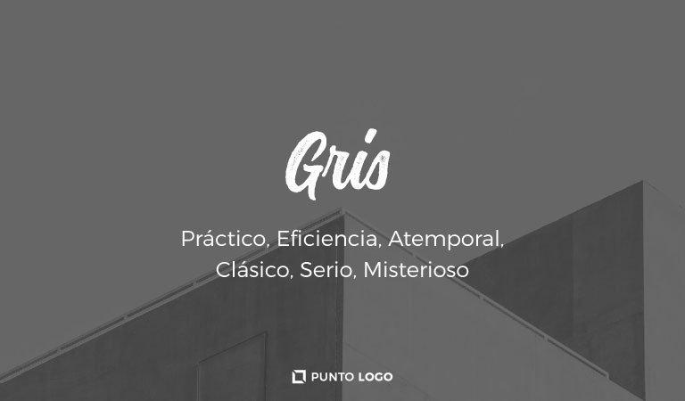 significado del color gris en los logos