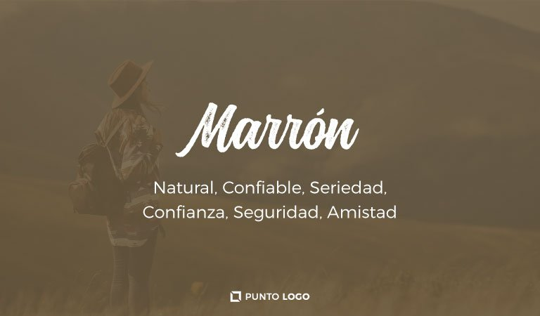 significado del color marron en los logos