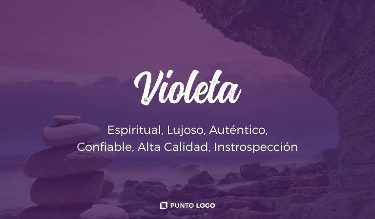 significado del color violeta en los logos